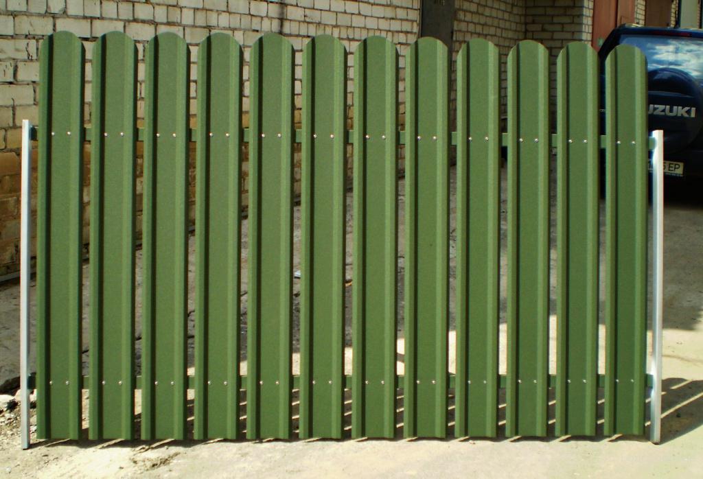 Забор штакетник металлический своими руками